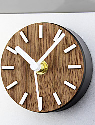 Retro Nostalgia Rural Solid Wood Refrigerator Stick Wall Clock Creative Magnetic Refrigerator Paste Wall Clock