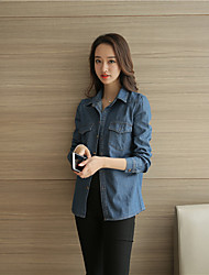 2017 spring new female Korean long-sleeved denim shirt jacket