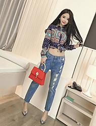 Весна новый корейский мода тонкий тонкий дикий цвет рубашка с длинными рукавами рубашка реальный выстрел