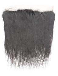 O remendo virginal brasileiro remy do cabelo humano 13 * 4 fechamento do cabelo reto 130%