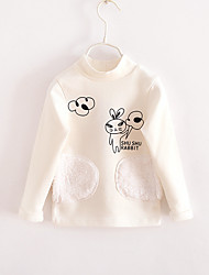 Casual/Daily Floral Blouse,Cotton Winter