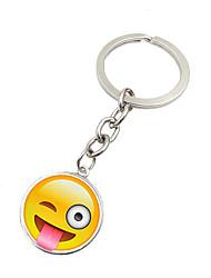 Key Chain Circular Key Chain Silver Metal