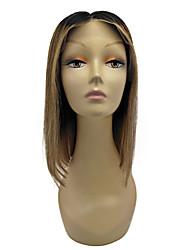 OMBRE T1B / 27 боб фронта шнурка человеческих волос парики прямые волосы 130% парики плотности бразильских волос боб 10-12 дюймов