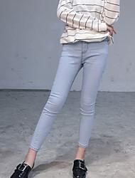 sinal # novo Slim era calças lápis trecho fina jeans pés femininos