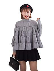 signe printemps 2017 nouvelle robe swing feuilletée flouncing avant et en arrière à travers deux modèles de poupées de théâtre étudiant