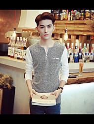 -p35- neue Männer&# 39; s Casual Langarm-T-Shirt neue Supermärkte Café