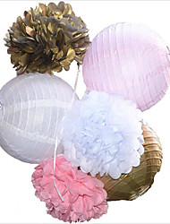 5pcs/lot 8 20cm Decorative Tissue Paper Honeycomb Balls Flower Pastel Birthday Baby Shower Wedding Holiday Party Decorations