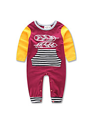 Baby kids stripe Long Sleeve Jumpsuit girl boy Newborn cotton clothes
