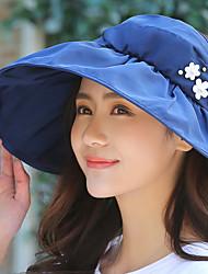 Mujer Verano Vintage Casual Poliéster Sombrero para el sol,Un Color