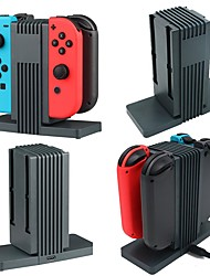 4 in 1 Charger Docks Stand and Charging Holder for Nintendo Switch Joy-Con (Black)
