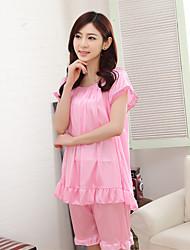 Women's Suits Nightwear Solid-Thin Ice Silk Women's