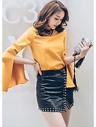 Знак 2017 весной модели в Европе и Америке прилива бренд досуг дикий тонкий бисера раскол юбка бюст
