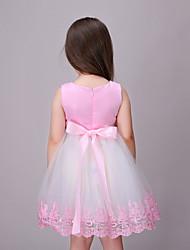 Girl's Holiday Jacquard Dress,Cotton Summer Sleeveless