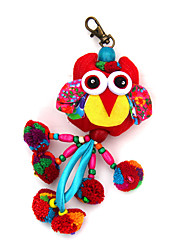 Key Chain Bird Key Chain Red Blue