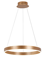 Led 72W Pendant Light/ 60cm Rings Ceiling Light/Modern/Contemporary/ MetalArcylic Brushed Coffee/Gold/White