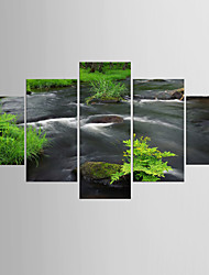 Photographic Print Landscape Modern Classic,Five Panels Canvas Any Shape Print Wall Decor For Home Decoration