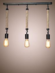 Hemp Rope Lights Creative Restaurant Loft Retro Cafe Bar Lamp