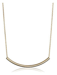 Tiny Sparkle Gold Bar Smile Pendant Necklaces Lariat Y Necklaces JewelryWedding Party