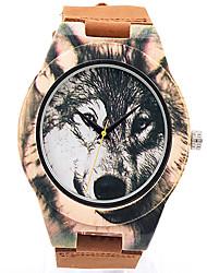 Sport Watch Dress Watch Fashion Watch Wrist watch Bracelet Watch Wood Watch Punk Japanese Quartz Genuine Leather BandVintage Cartoon