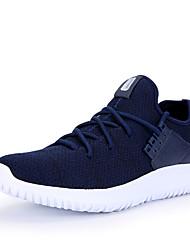Masculino-Tênis-Conforto par sapatos-Rasteiro-Preto Cinzento Azul Marinho-Tecido-Ar-Livre Casual Para Esporte