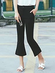 Women's Mid Rise Stretchy Jeans Pants,Vintage Bootcut Rivet Solid