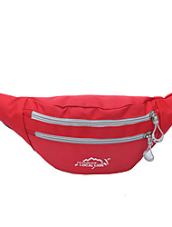 Waist Bag/Waistpack Waterproof Green Red Pink Gray Black Dark Blue Light Blue Brown Orange Army Green