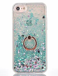For iPhone X iPhone 8 iPhone 8 Plus Case Cover Flowing Liquid Ring Holder Back Cover Case Solid Color Hard PC for Apple iPhone X iPhone 8