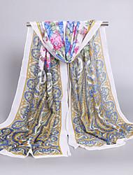 Women's Fashion Chiffon Cute Print Flowers Spring Summer Scarfs 160*50CM