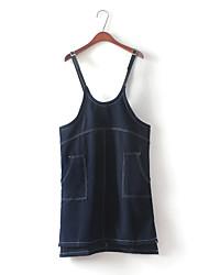 16 корейская версия колледжа Ветер диких случайных незакрепленных карман сплошной цвет нерегулярные регулировки ремень платье юбка женщин