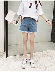 Really making money retention personality flower embroidery ultra-lanky waist denim shorts, women