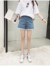 Realmente fazer dinheiro retenção personalidade flor bordados ultra-lanky cintura denim shorts, as mulheres
