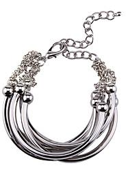 Femme Bracelets Bijoux Mode Vintage Style Punk Gemme Alliage Forme Géométrique Or Noir Argent Bijoux Pour Occasion spéciale 1pc