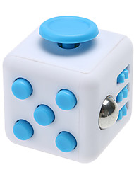 Anxiety Reliever Fidget Dice Cubic Cube Fidget Toys for Focusing / Stress Relieving ABS --White &  Blue