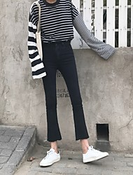 знак классической дикого Weila флэш порванных края джинсовых колготки женщина