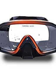 Diving Masks Waterproof Protective Diving / Snorkeling Neoprene Fibre Glass Black