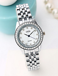 Women's Fashion Watch Water Resistant / Water Proof Imitation Diamond Japanese Quartz Alloy Band Cool Casual Silver