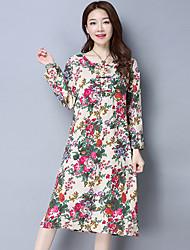 2017 весенние женщины&# 39; s национальный ветер ретро платье платье хлопок платье литературный темперамент юбка