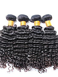 Brazilian Curly Hair Weave, 4 pcs/ lot Free Shipping Brazilian Deep Wave Virgin Hair