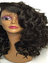Hot On Sale Price Natural Looking Big Curly Indian Virgin Human Hair Side Part Short Pre Plucked Lace Front Wigs With Baby Hair For Black Women