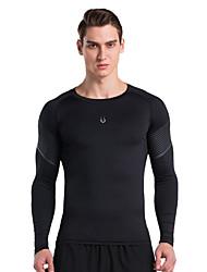 Vansydical® Men's Long Sleeve Running Tops Spring Summer Sports Wear Exercise & Fitness Terylene Slim Fashion