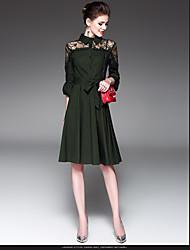 la nouvelle dentelle taille banlieusard couture une jupe mot 2017 ressort septième robe à manches trompette