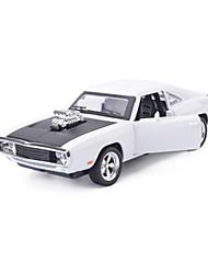 Carro de Corrida Carrinhos de Fricção Brinquedos de carro 1:28 Metal Vermelho Branco Azul Modelo e Blocos de Construção