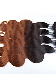 3 Pcs/Lot Ombre Hair Color 1B/30# Body Wave Wholesale Peruvian Hair, Raw Unprocessed Virgin Peruvian Hair