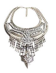 Mulheres Colares com Pendentes Colares Declaração Imitação de Diamante Original Moda Euramerican Prata Jóias ParaFesta Ocasião Especial