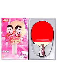 4 étoiles Ping Pang/Tennis de table Raquettes Ping Pang Couleur bois Manche Court Boutons