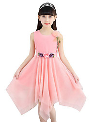 Girl's Going out Casual/Daily Holiday Solid Dress Summer Sleeveless