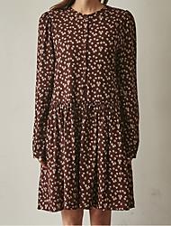 17 printemps nouvelle version coréenne de la jupe rétro floral jupe chemise en bas femme