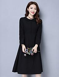 Signer le nouveau printemps 2017 théâtre de coton ajouré tempérament en crochet était mince taille plissé jupe dans