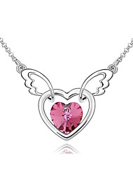 Women's Pendant Necklaces Crystal Heart Chrome Unique Design Dangling Style Jewelry For Thank You Gift 1pc