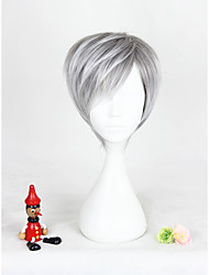 Short Gray Mixed Lolita Wig For Sunshine Boys Synthetic 12inch Anime Cosplay Party Hair Wig CS-303A